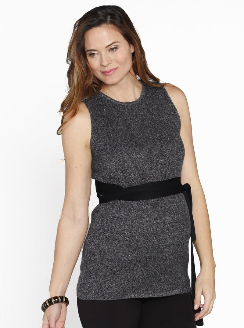 Maternity Sleeveless Knitted Top - Perfect For Work Blouse - 237C