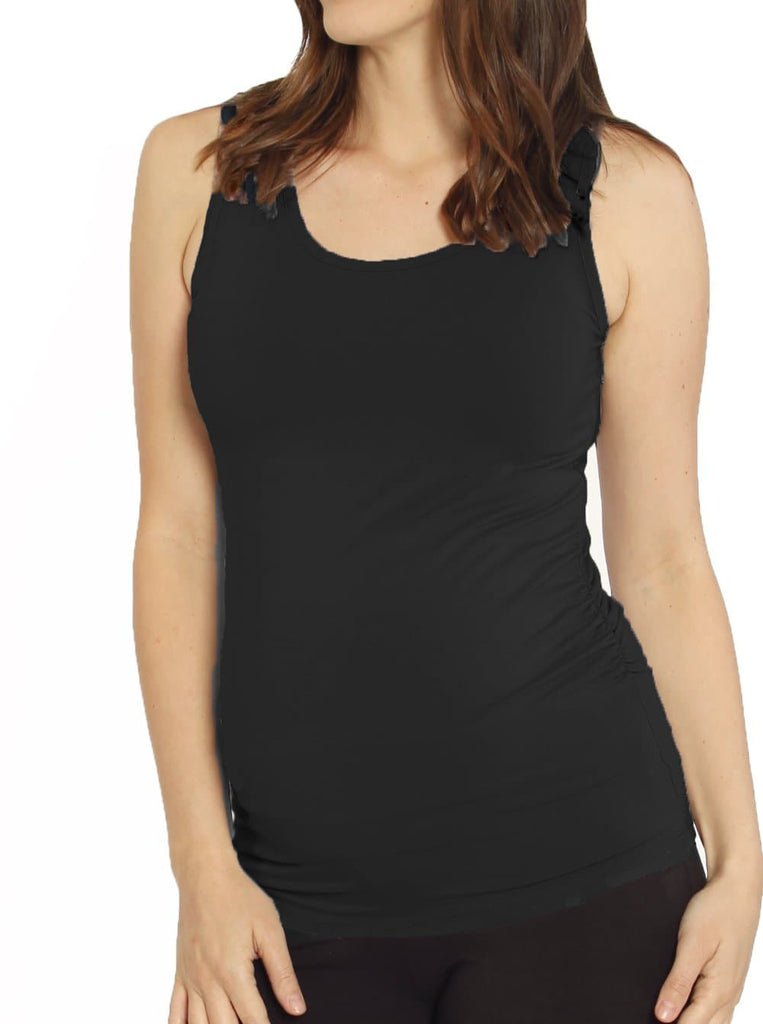 maternity bodycon fitted top