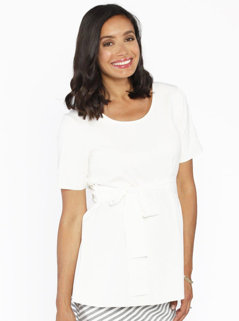 Maternity Work Top in White