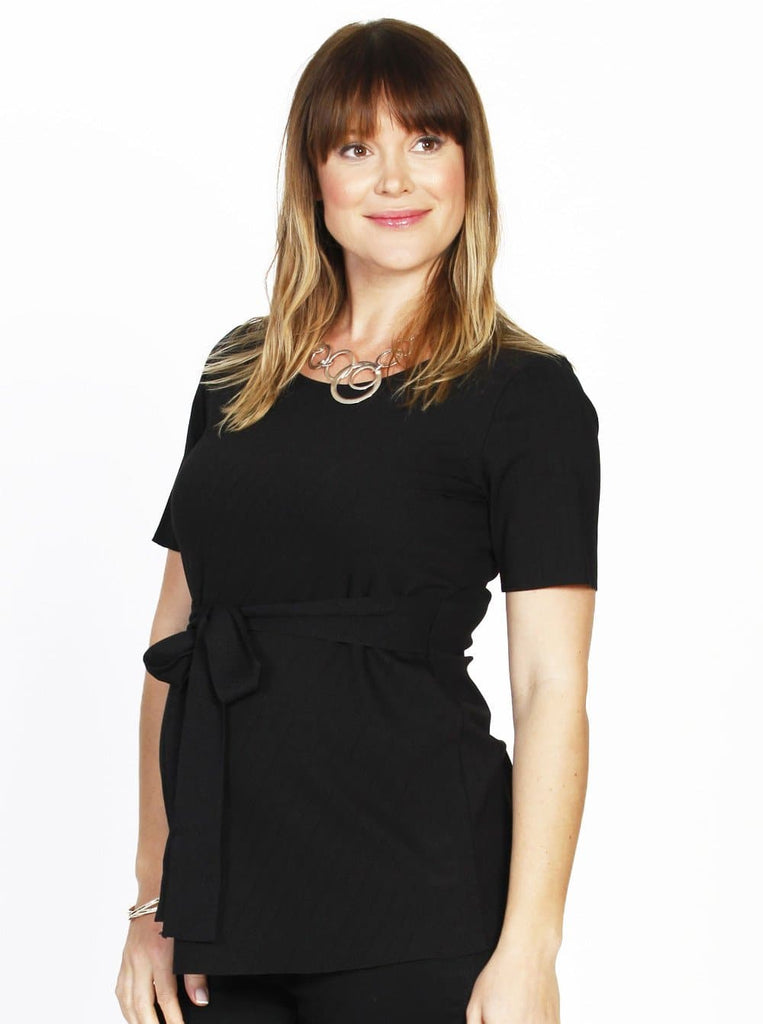 Maternity Work Top with Tie Waist
