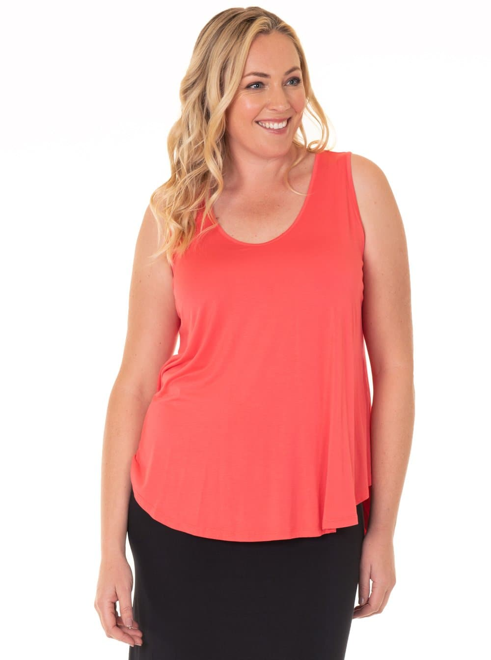 Maternity Sleeveless Swing Top - Watermelon