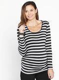 Maternity Tee -Long Sleeve with Side Gathers