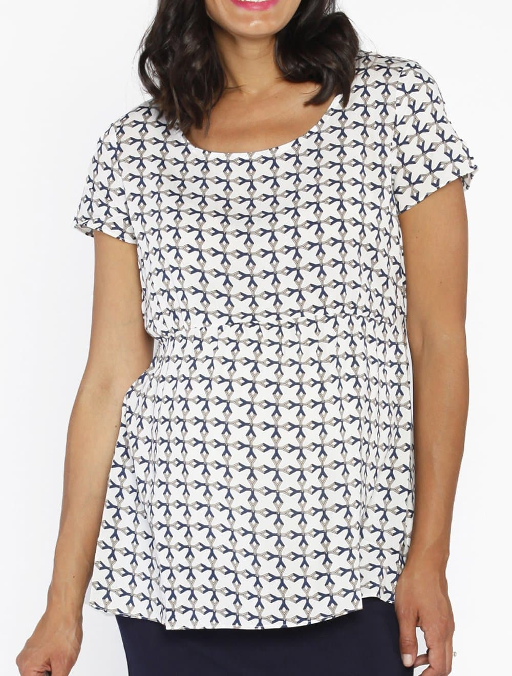 Maternity Relax Fit Summer Smock Top - Print - Angel Maternity - Maternity clothes - shop online