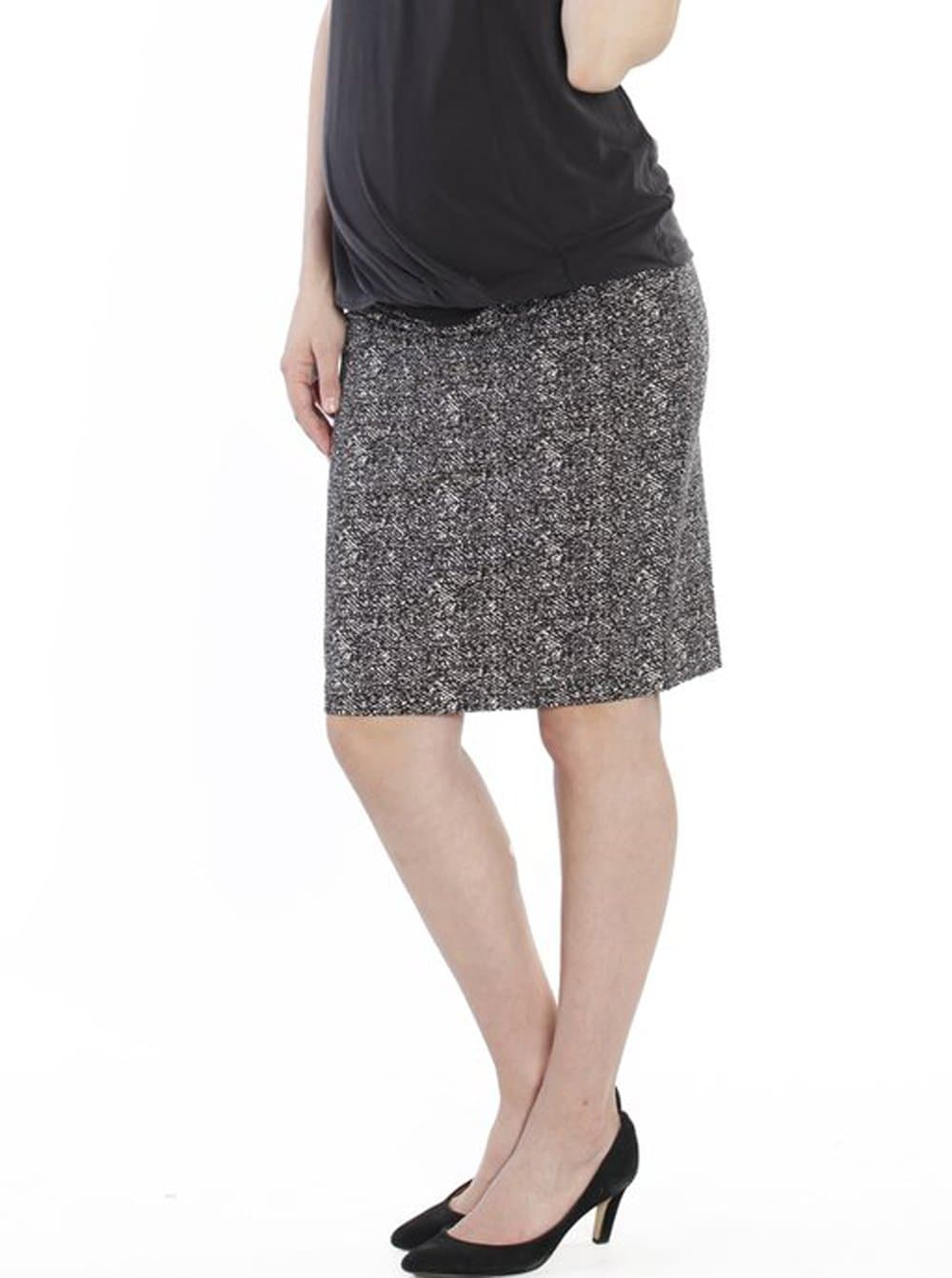 Maternity  Skirt in Black & White Print - Angel Maternity - Maternity clothes - shop online