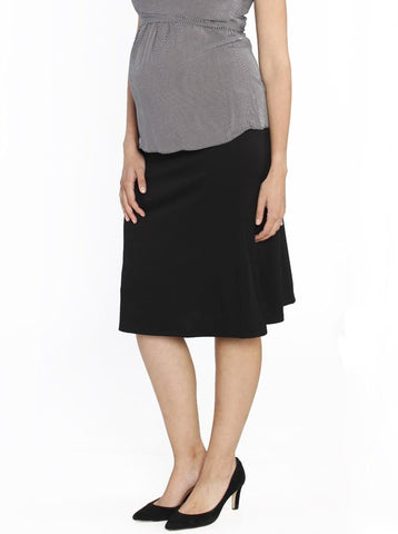 Angel Maternity Side ruching high waist skirt - Dark Charcoal