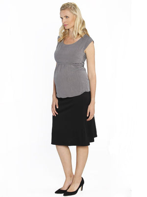 Maternity Soft Stretchy Skirt in Black