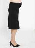 Maternity Soft Stretchy Skirt in Black open