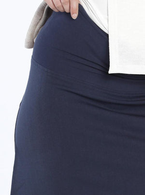 A-Line Style Maternity Work Skirt in Navy