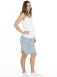 Maternity Drawstring Tencel Summer Skirt in Light Denim Blue - Angel Maternity - Maternity clothes - shop online