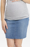 Maternity Over The Bump High Waist Denim Skirt