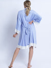 Hospital Pack: Nursing Dress + Robe + Free Baby Pouch - Blue & Pink