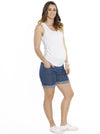 Maternity Summer Denim Short - Light Blue