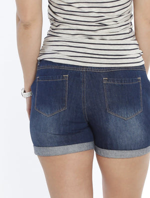 Maternity Summer Denim Shorts - Vintage Wash - Angel Maternity - Maternity clothes - shop online