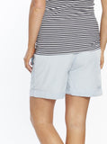 Maternity Tencel Stretchy Shorts - Light Chambray