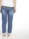 Maternity Boyfriend Jeans in Stretchy Cotton - Denim - Angel Maternity - Maternity clothes - shop online