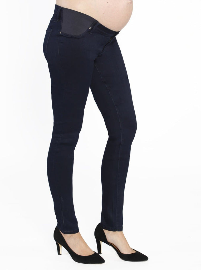 Maternity Comfortable Stretch Slim Jeans in Navy - Angel Maternity - Maternity clothes - shop online
