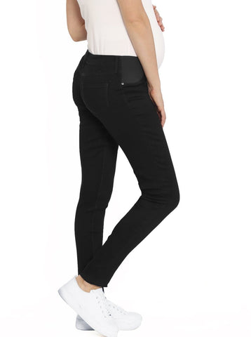 Maternity Work Pants in Straight Cut - Black
