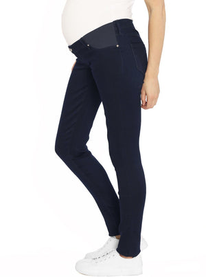 Maternity Comfortable Stretch Slim Jeans in Navy maternity jeans