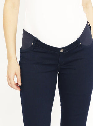 Maternity Comfortable Stretch Slim Jeans in Navy pregnancy jeans