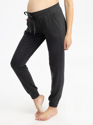 Maternity Tracksuit Pants in Black