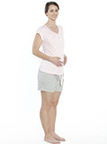 Maternity Nursing Summer PJ sleepwear - Pink & Grey Set
