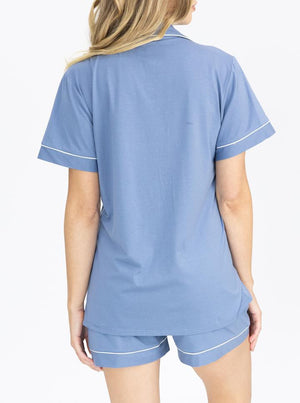 Maternity and Nursing Pyjama Set in Blue
