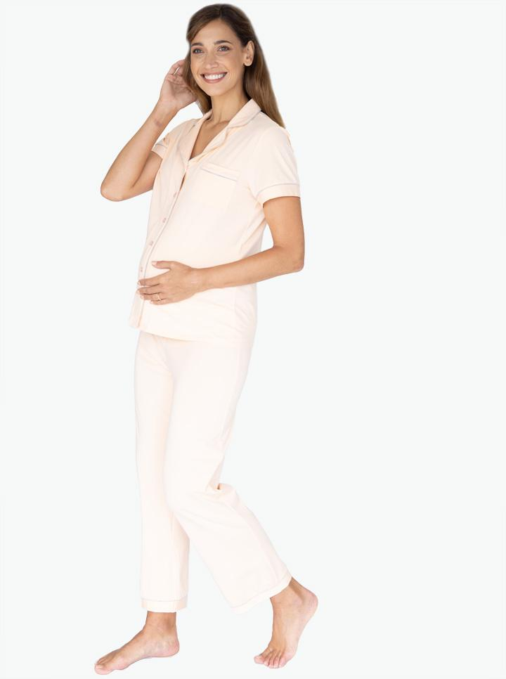 Maternity and Nursing Pyjama Long Pant Set