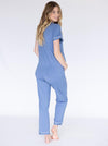 Maternity and Nursing Pyjama Long Pant Set in Blue