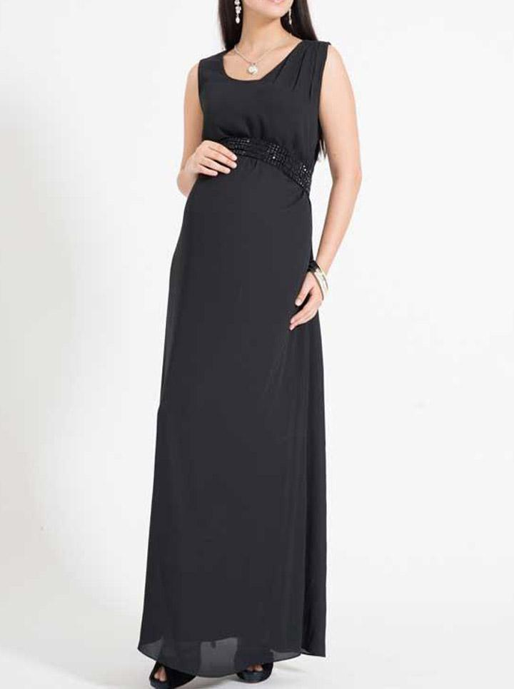 Marianne Maxi Evening Dress in Black