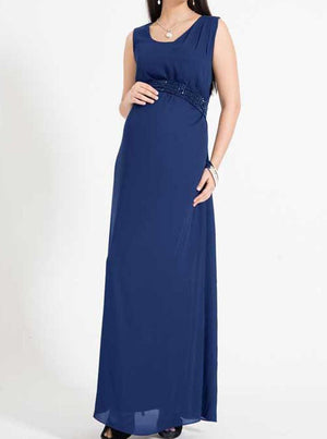 Marianne Maxi Evening Dress in Egyptian blue