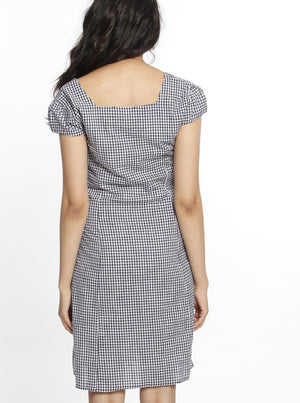 Maternity Sweet Tie Cotton Dress - Gingham Print