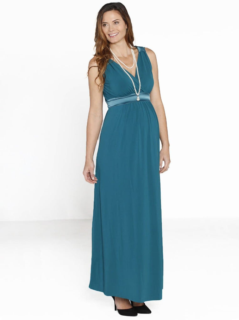 Maternity Evening Party Dress with Nursing Opening