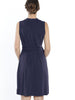 Classic Wrap Maternity & Nursing Dress in Navy