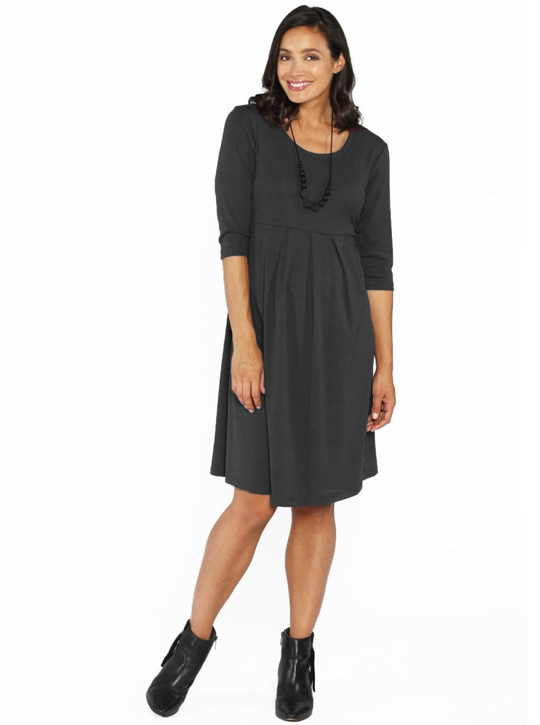 a09ddd2d141c1 ... Lucy Maternity Long Sleeve Little Cotton Tunic dress - Grey - Angel  Maternity - Maternity clothes ...