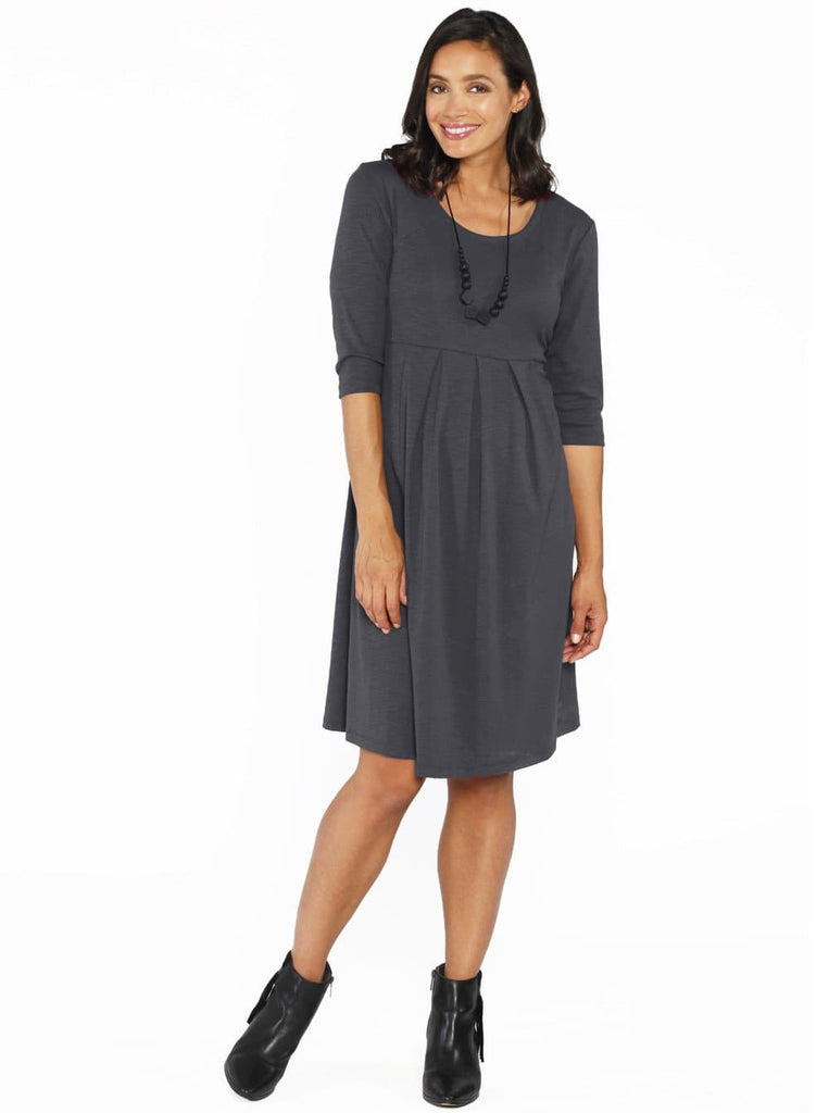Maternity Long Sleeve Cotton Tunic Stretchy Winter Dress