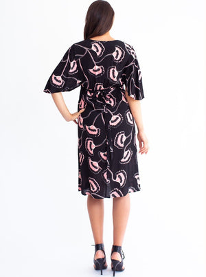 Maternity Bella Midi Dress - Hibiscus Print