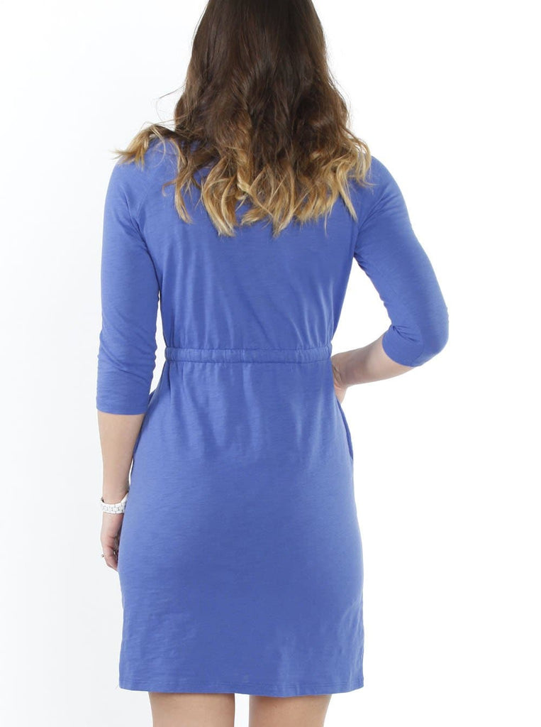 Angel Maternity Drawstring Dress - Blue - Angel Maternity - Maternity clothes - shop online