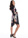 Maternity Bella Long Sleeve Dress - Black Floral