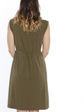 Maternity Sleeveless Stretchy Midi Knitted Dress - back