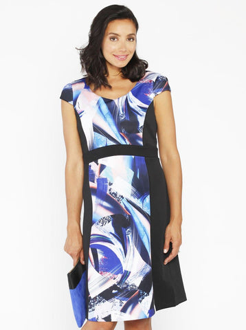Angel Maternity Drawstring Dress - Blue