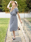 Maternity Tie Waist Nursing Wrap Dress - Daisy Flowers