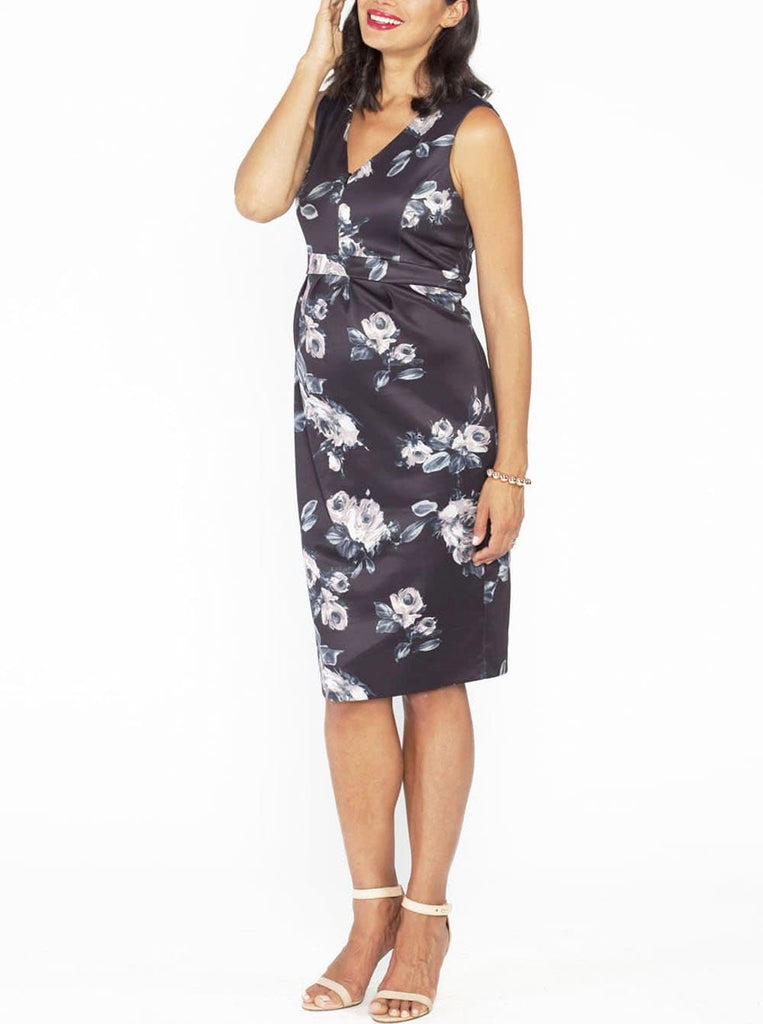 1c3ce6471c1 ... Angel Maternity Sleeveless Zipper Nursing Party Dress - Floral Print - Angel  Maternity - Maternity clothes ...