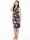 Angel Maternity Sleeveless Zipper Nursing Party Dress - Floral Print - Angel Maternity - Maternity clothes - shop online