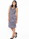 Maternity Sleeveless Ponti Party Dress