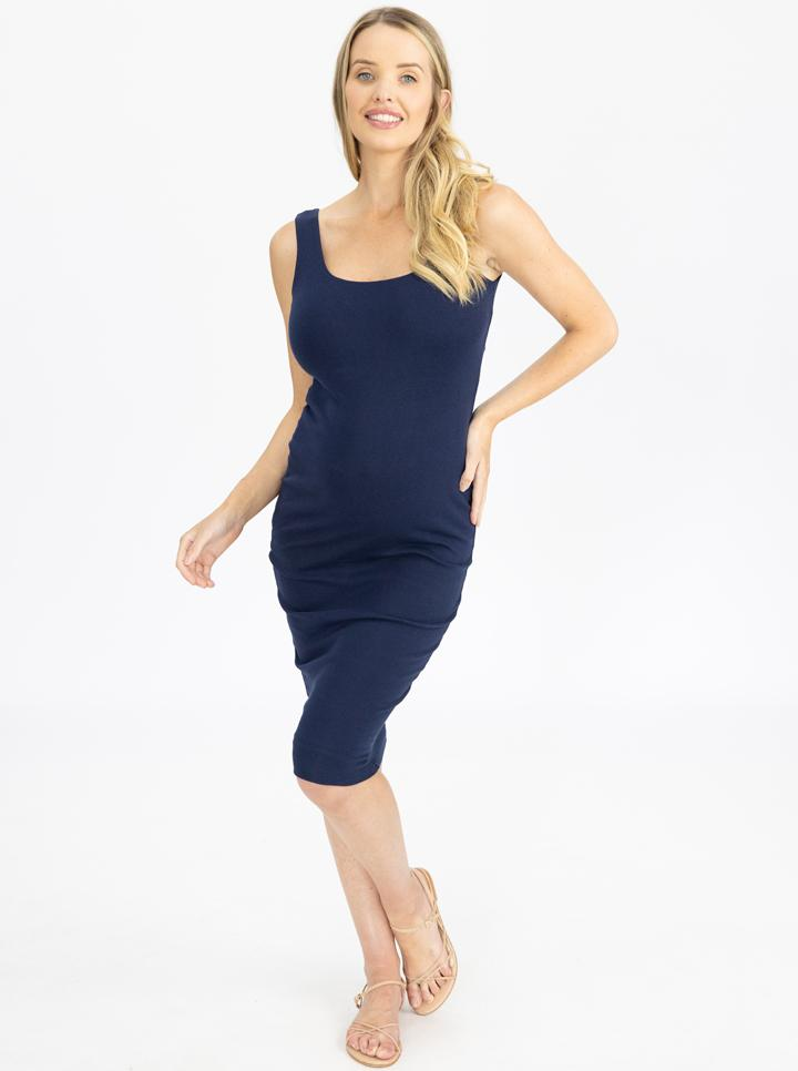 Maternity Cotton Sleeveless Bodycon Dress