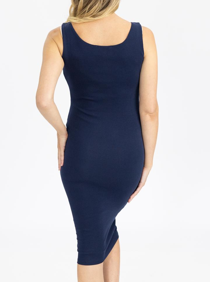 Maternity Cotton Sleeveless Bodycon Dress back