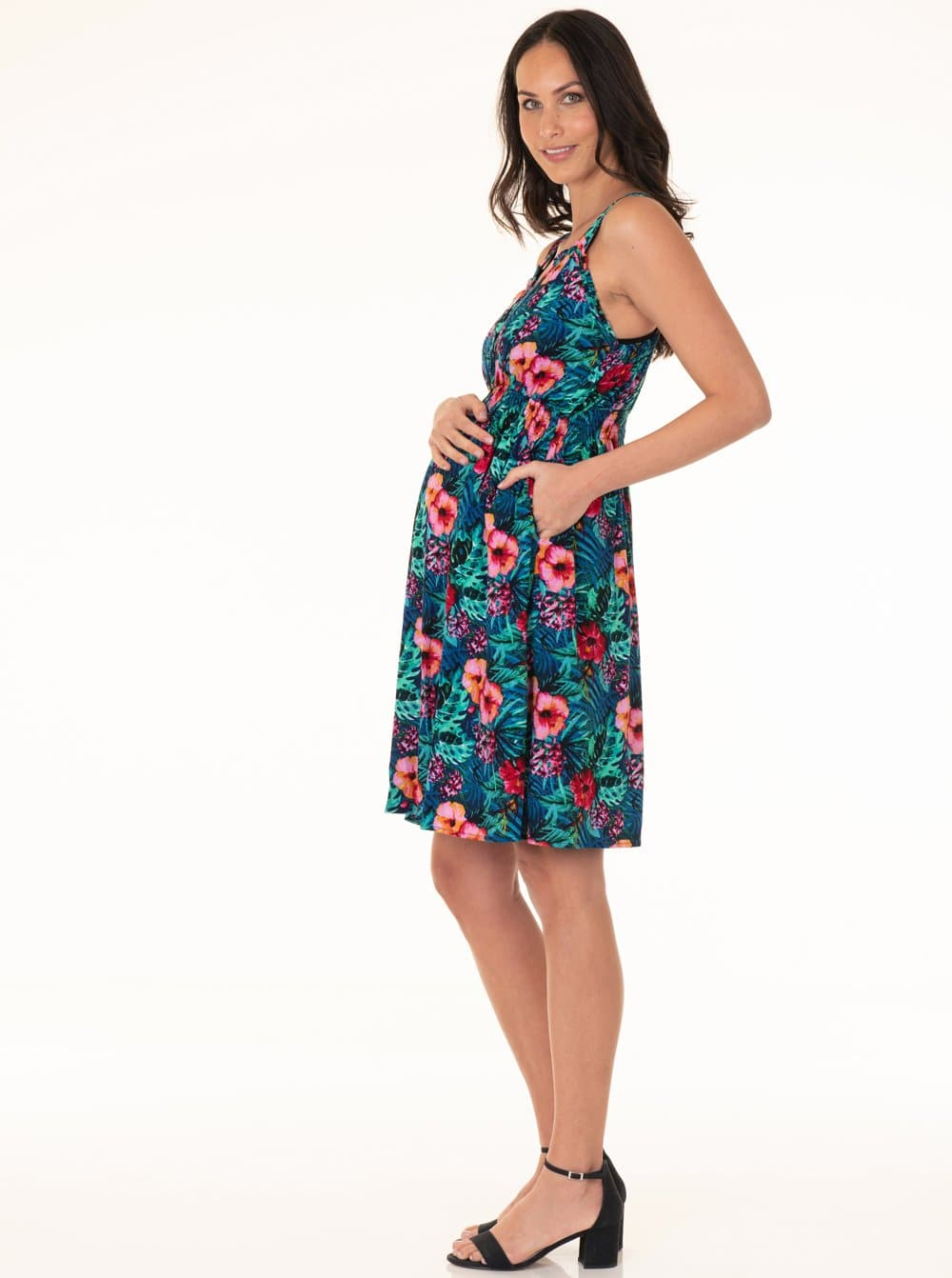 Maternity Summer Rayon Nursing Dress - Aloha