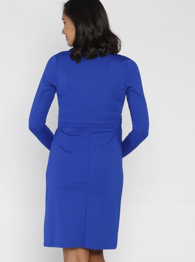 Maternity Mock Wrap Dress - back