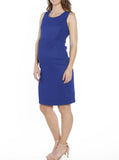 Maternity Sleeveless Fitted Pencil Dress - Cobalt Blue - Angel Maternity - Maternity clothes - shop online