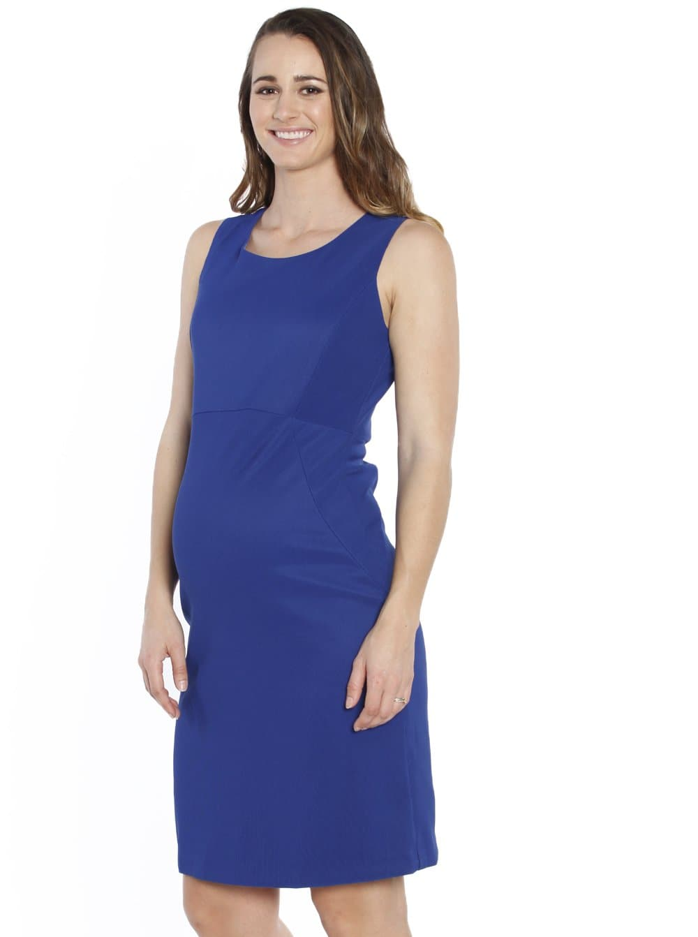 Maternity Sleeveless Fitted Pencil Dress - Cobalt Blue